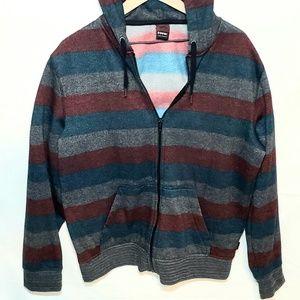 Mens XL Tony Hawk Striped Jacket